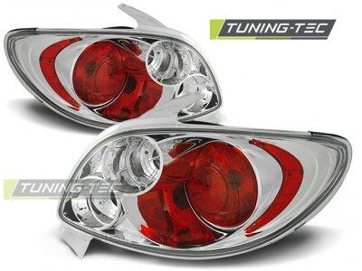 Задние фонари Chrome от Tuning-Tec на Peugeot 206