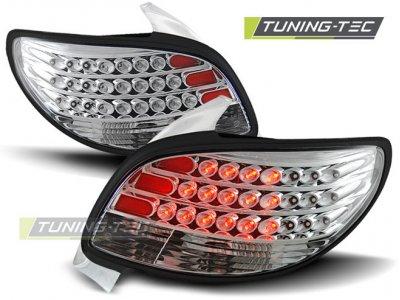 Задние фонари LED Chrome Var2 от Tuning-Tec на Peugeot 206