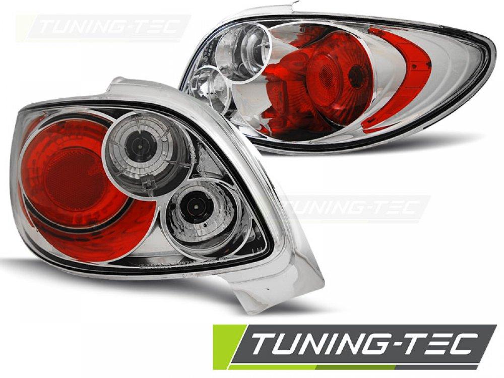 Задние фонари Chrome от Tuning-Tec на Peugeot 206 CC