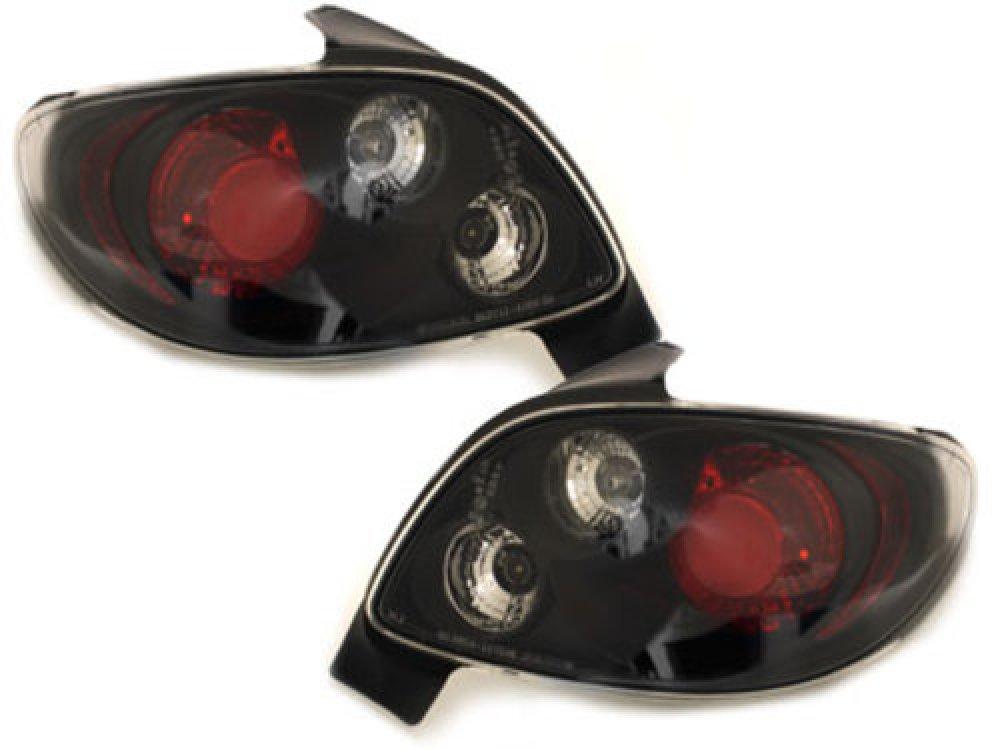 Задние фонари Black на Peugeot 206