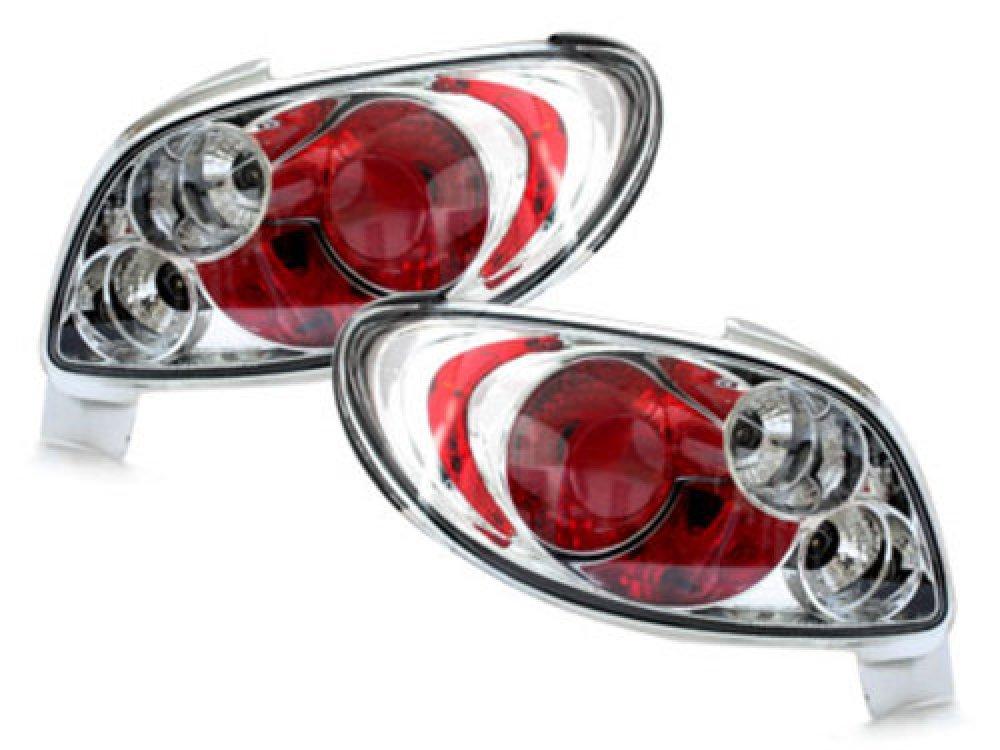 Задние фонари Crystal на Peugeot 206 CC