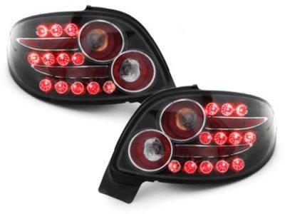 Задние фонари LED Black Var2 на Peugeot 206 CC