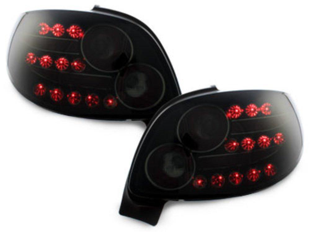 Задние фонари LED Black Smoke на Peugeot 206 CC