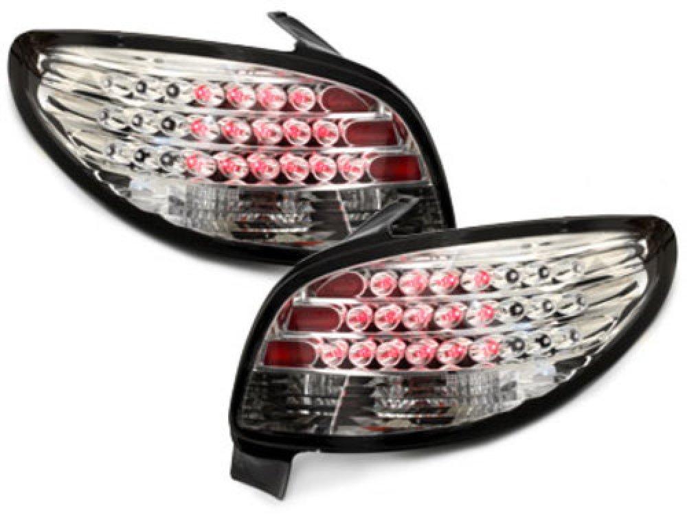 Задние фонари LED Crystal на Peugeot 206