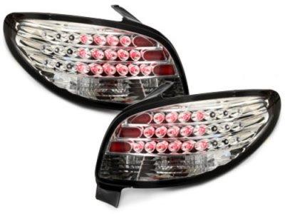 Задние светодиодные фонари LED Crystal на Peugeot 206