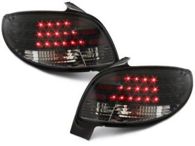 Задние фонари LED Black на Peugeot 206