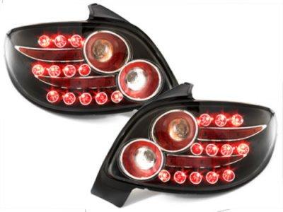 Задние фонари LED Black Var2 на Peugeot 206