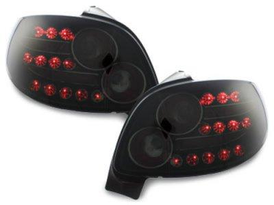 Задние фонари LED Black Smoke на Peugeot 206