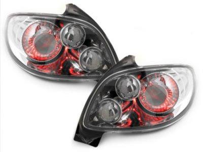 Задние тюнинговые  фонари Chrome на Peugeot 206