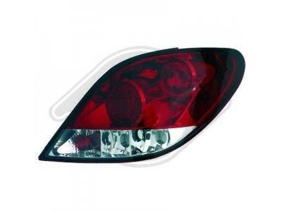 Задние фонари Red Crystal от HD на Peugeot 207