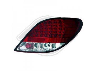 Задние фонари LED Red Crystal от HD на Peugeot 207