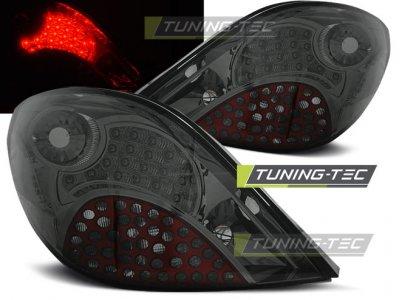 Задние фонари LED Smoke от Tuning-Tec на Peugeot 207 3D / 5D