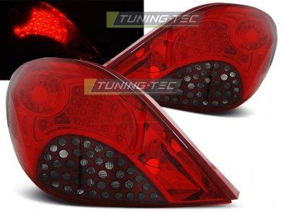 Задние фонари LED Red Smoke от Tuning-Tec на Peugeot 207 3D / 5D