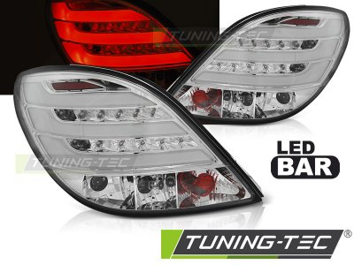 Задние светодиодные фонари хром на Peugeot 207