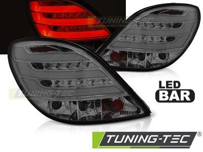 Задние светодиодные фонари тёмные на Peugeot 207