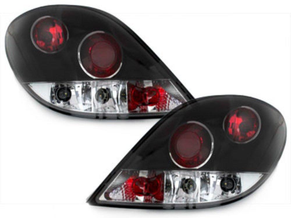 Задняя альтернативная оптика Black на Peugeot 207