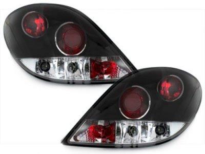 Задние фонари Black на Peugeot 207