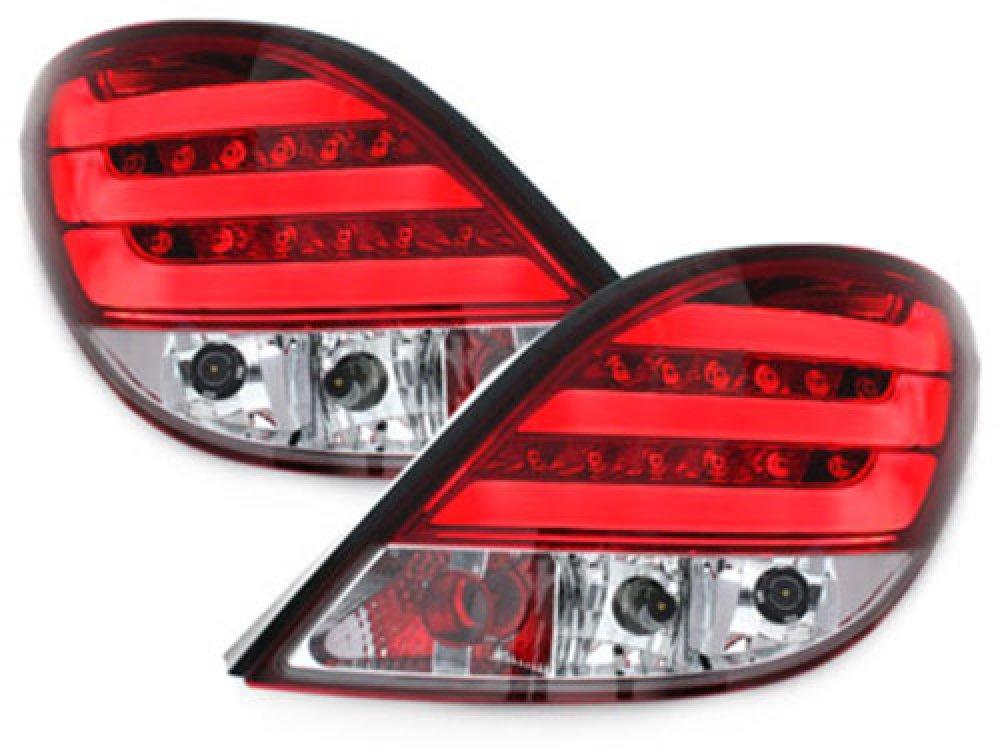 Задние фонари CarDNA LED Red Crystal на Peugeot 207