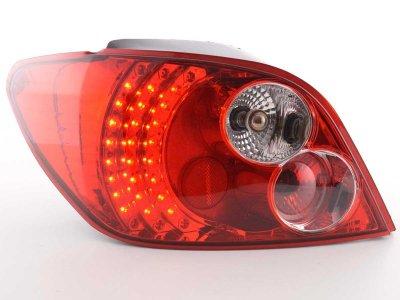 Задние фонари LED Red Crystal Var2 на Peugeot 307