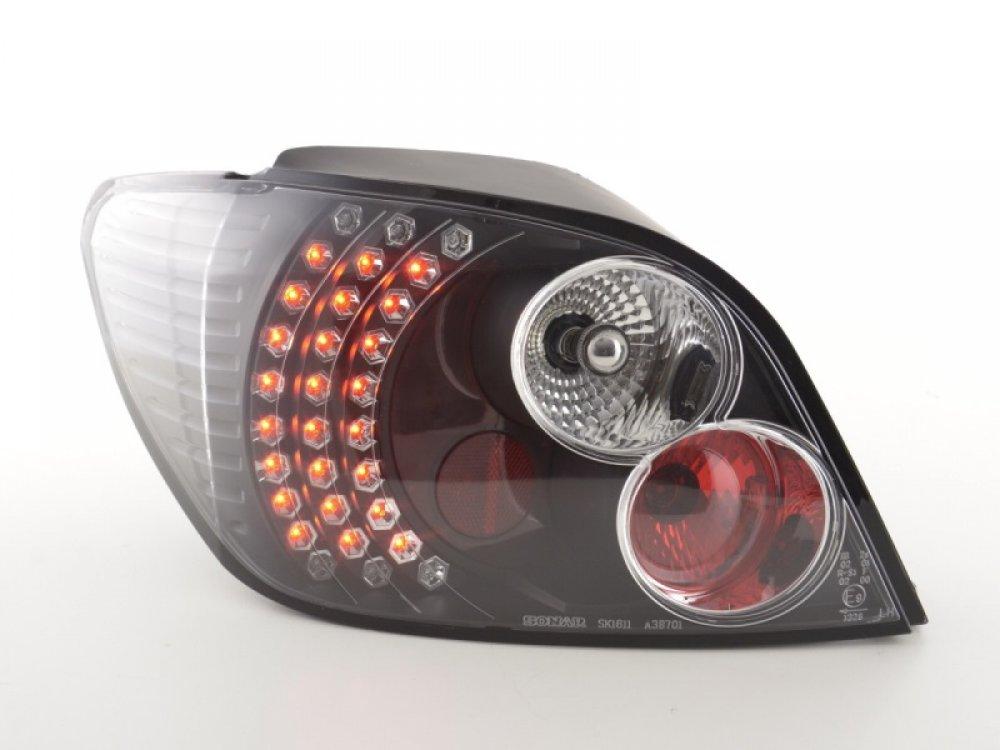 Задние фонари LED Black Var2 на Peugeot 307