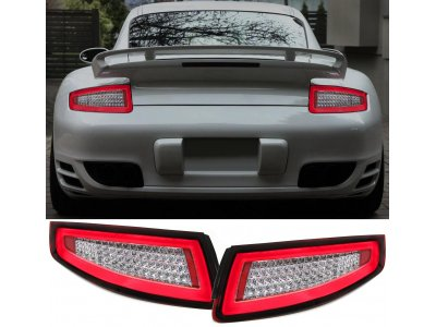 Задние фонари Neon LED Red Crystal на Porsche 911 / 997