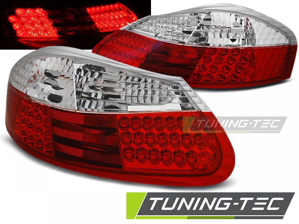 Задние диодные фонари LED Red Crystal на Porsche Boxster 986