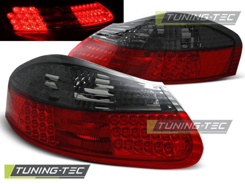 Задние диодные фонари LED Red Smoke на Porsche Boxster 986