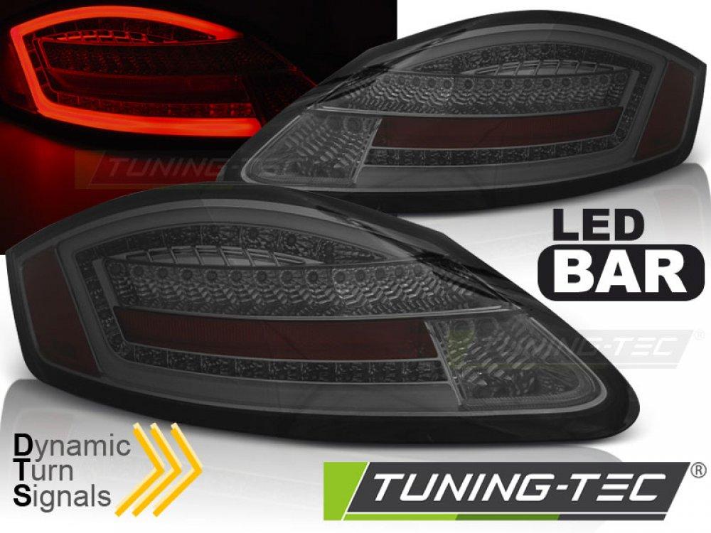 Задние фонари Dynamic LEDBar Smoke на Porsche Boxster 987 / Cayman
