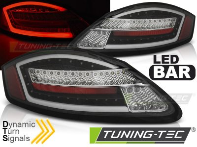 Задние фонари Dynamic LEDBar Black на Porsche Boxster 987 / Cayman