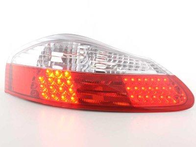 Задние фонари LED Red Crystal от FK на Porsche Boxster 986