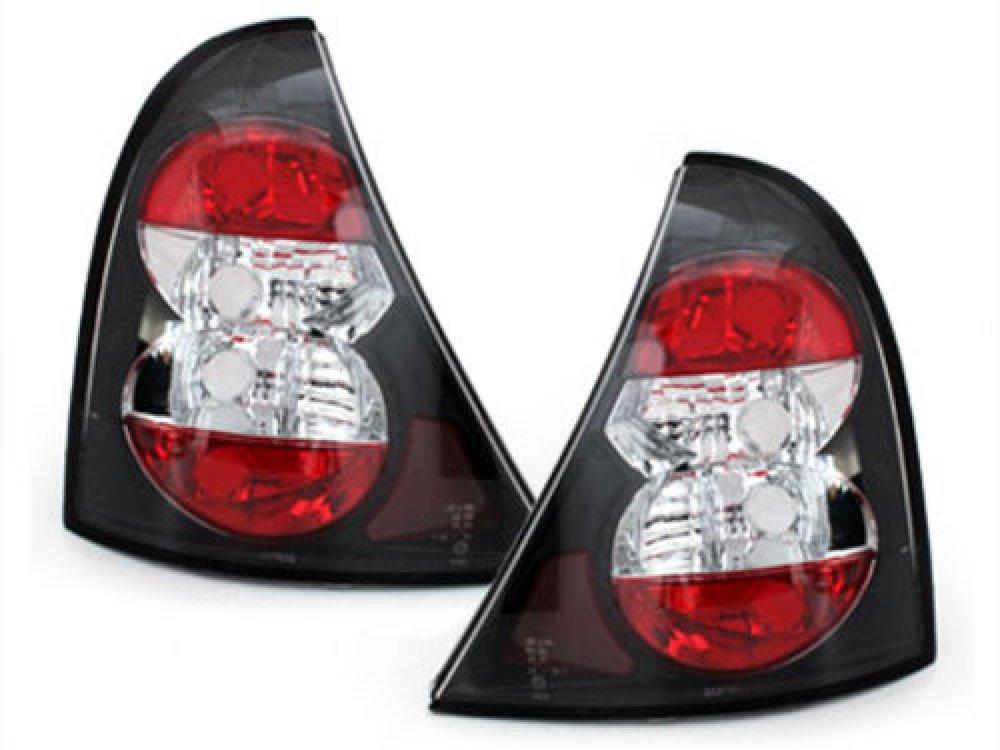 Задние фонари Black на Renault Clio II