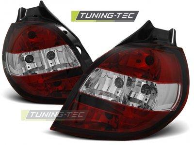 Задние фонари Red Crystal от Tuning-Tec на Renault Clio III 3D / 5D