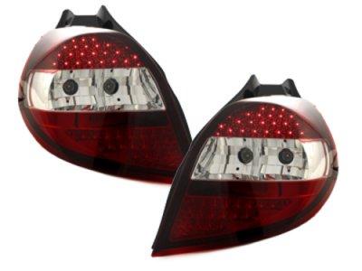 Задние фонари LED Red Crystal от Dectane на Renault Clio III