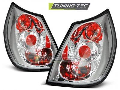 Задние фонари Chrome на Renault Scenic II