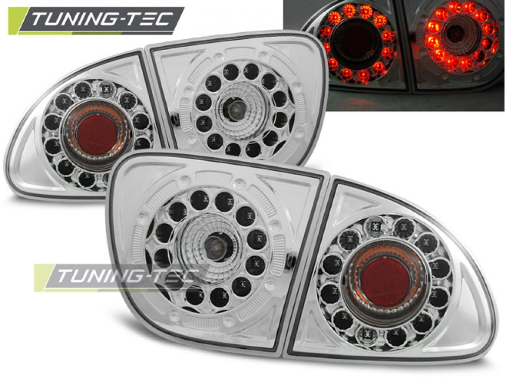 Задние фонари LED Chrome Var2 от Tuning-Tec на Seat Leon 1M