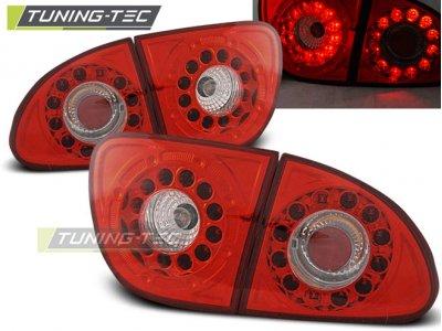 Задние фонари LED Red Crystal Var2 от Tuning-Tec на Seat Leon 1M