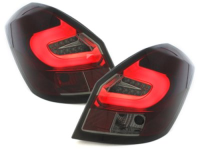 Задние фонари LED Red Smoke на Skoda Fabia II
