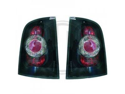 Задние фонари Black от HD на Skoda Octavia I Combi рестайл