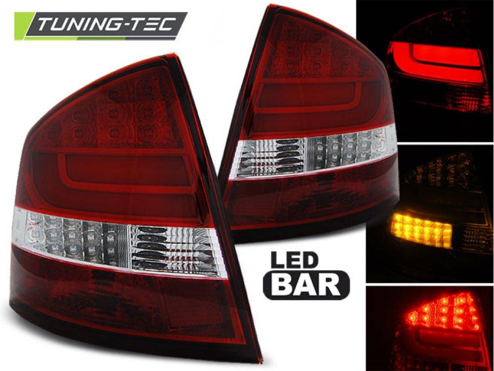 Задние фонари NeonTube Red Crystal от Tuning-Tec на Skoda Octavia II Liftback
