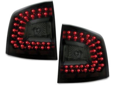 Задние фонари Litec LED Black Smoke на Skoda Octavia II 1Z Combi RS / Scout