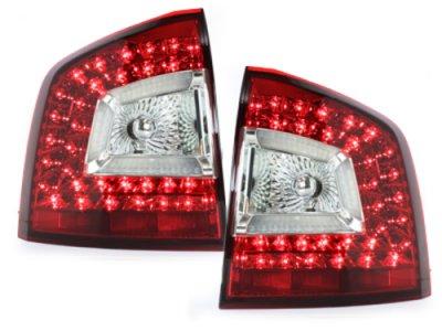 Задние фонари Litec LED Red Crystal на Skoda Octavia II 1Z Combi RS / Scout
