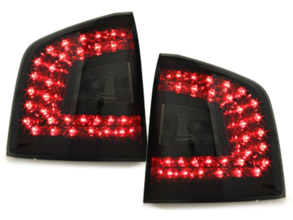 Задние фонари Litec LED Red Smoke на Skoda Octavia II 1Z Combi RS / Scout