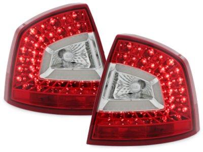 Задние фонари Litec LED Red Crystal на Skoda Octavia II 1Z Limousine