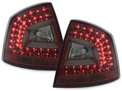 Задние фонари Litec LED Red Smoke на Skoda Octavia II 1Z Limousine RS
