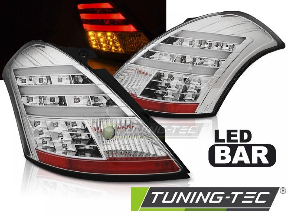 Задние фонари Full LED Chrome от Tuning-Tec на Suzuki Swift III
