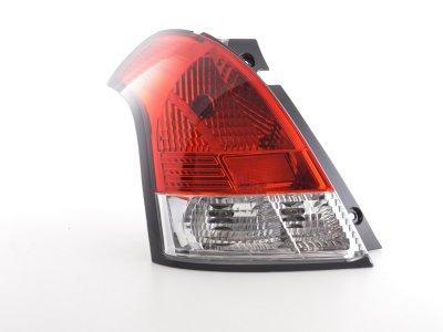 Задняя альтернативная оптика Red Сrystal от FK Automotive на Suzuki Swift III