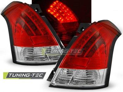 Задние фонари LED Red Crystal на Suzuki Swift II