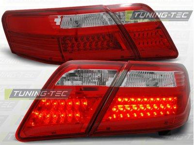 Задние фонари LED Red Crystal на Toyota Camry XV40
