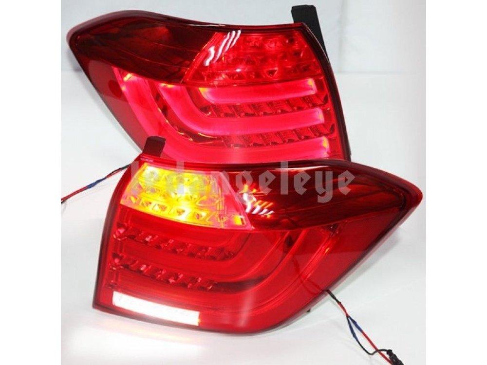 Задние фонари Neon Tube Red Crystal на Toyota Highlander II