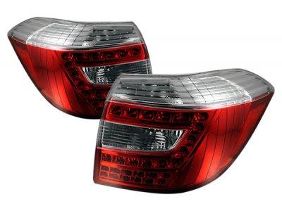 Задние фонари LED Red Crystal на Toyota Highlander II